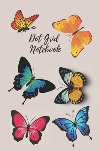 Butterfly Dot Grid Notebook: 6x9 Bullet Notebook Dot Grid Time Management