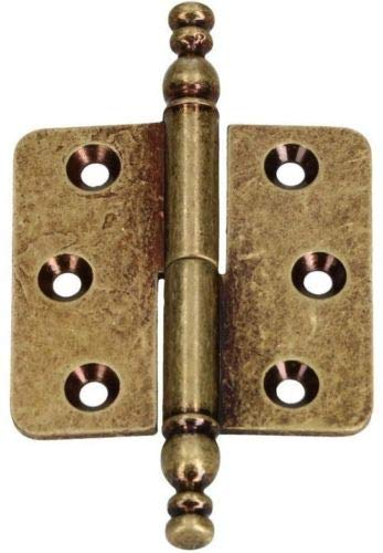 KOTARBAU Zierscharniere 45x45mm Möbelband Stilbänder Möbelscharnier Universal Verschiedene Farben Rostabweisend Links/Rechts Robust Praktisch (Alt Messing Links)