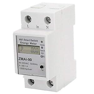 Quata Medidor de energía WiFi con interruptor, 110 V, 220 V, control remoto por aplicación Tuya