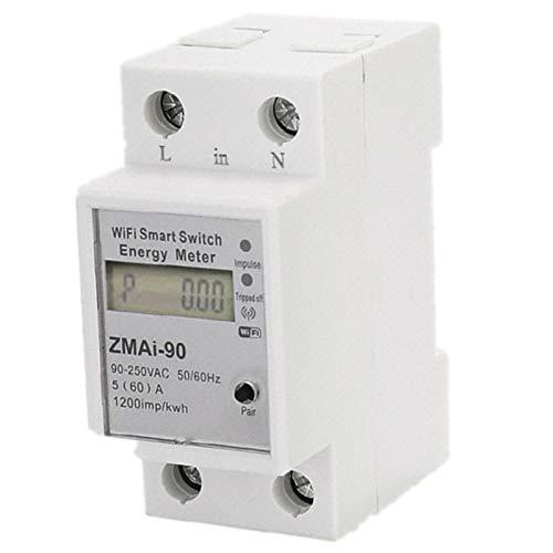 Quata Medidor de energía WiFi con interruptor, 110 V, 220 V, control...