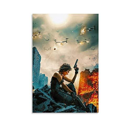 ZXCMNB Póster decorativo de Resident Evil Movies, lienzo pa