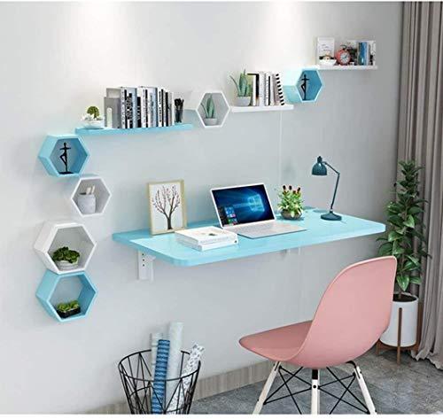 JIADUOBAO Mesa plegable de madera para colada montada en la pared, mesa de comedor/mesa/mesa de ordenador portátil/banco de trabajo de garaje, multifunción (color: blanco, tamaño: 80 x 40 cm)