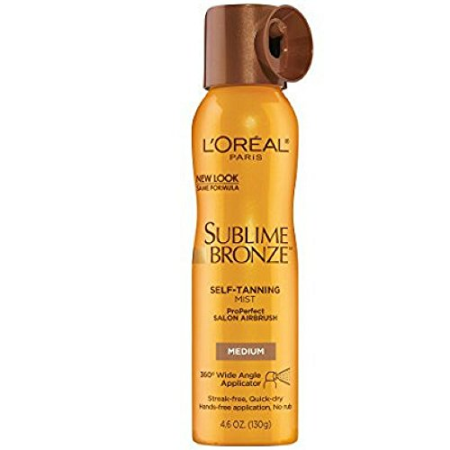 L'oreal Paris Sublime Bronze Properfect Salon Airbrush Self-tanning Mist, Medium Natural Tan, 4.6 Ounce