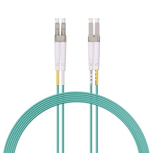 Fiber Patch Cable - LC to LC OM3 10Gb/Gigabit Multi-Mode Jumper Duplex 50/125 LSZH Fiber Optic Cord for SFP Transceiver, Computer Fiber Networks and Fiber Test Equipment, 3-Meter(10ft)
