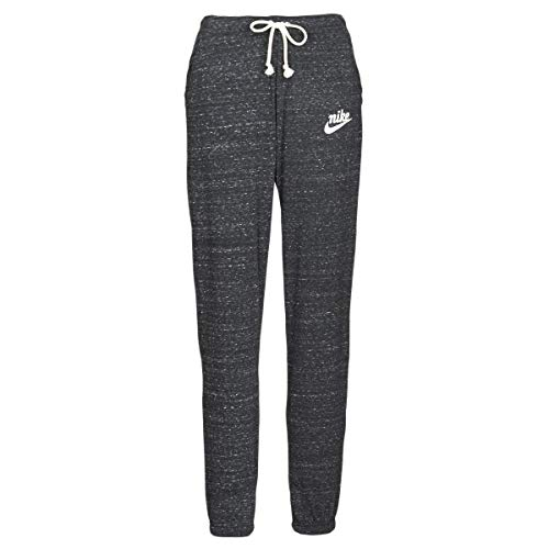 NIKE W NSW Gym VNTG Pant Pantalones de Deporte, Mujer, Black/Sail, L