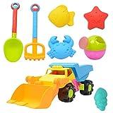 CUTICATE 8pcs Kunststoff Strandspielzeug Bagger Auto Sandspielzeug Wasserspielzeug für Kleinkind