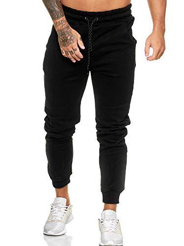 Code47 Pantalones de Jogging para Hombre, Pantalones de Deporte, Fitness, Club Negro M