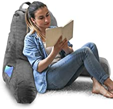 Springcoo Reading Pillow-Shredded Foam TV Pillow with Removable Cover-Great Support for Reading, Relaxing, Watching TV