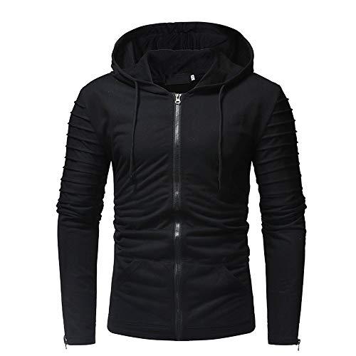 manadlian Sweat-Shirt à Capuche Homme Hoodie Veste en Poche Jacket Slim Fit Sweat à Capuche Manches Longues Automne Blousons Hommes