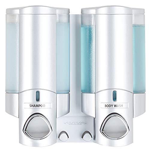 Better Living Aviva Seifenspender für 1 Flasche, Satin Silver 2-Chamber Satin-Silberfarben