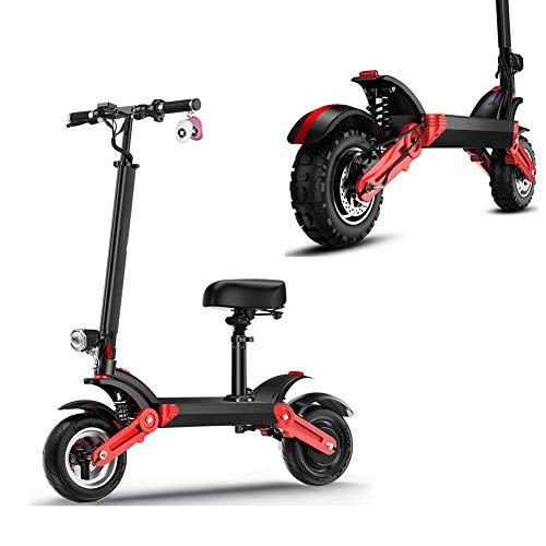 WM Scooter Eléctrico para Adultos Scooter de Aleación de Aluminio Todoterreno de 12 Pulgadas 500w Motor Súper Fuerte con Batería de Litio de 48 V 23ah 100 Kilómetros de Larga Distancia
