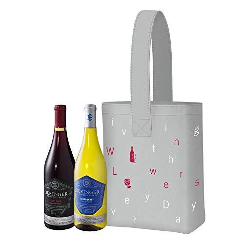 【Amazon.co.jp 限定】 青山フラワーマーケット デザイントート付き ワインセット カリフォルニア のワイナリーベリンジャーの定番赤白2本 [ 赤ワイン 14 ミディアムボディ アメリカ 750ml×2 瓶 その他のボックス]