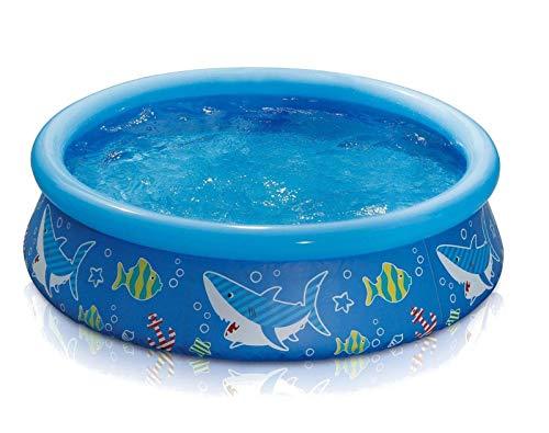 HAFIX Kinder Planschbecken - 152x38cm - Unterwasserwelt. Swimmingpool aufblasbar für Kids Kinderplanschbecken Kinderpools Aufstellpool. (Blau)
