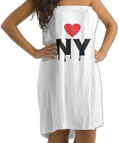 ZTEEG Beach Towel 31x51 Inches I Love NY-Vector Best City Newyork Men's Womens Bath Wrap Towels Bathroom Shower Wrap Beach Spa White for Teen Girls Adults Travel Towel