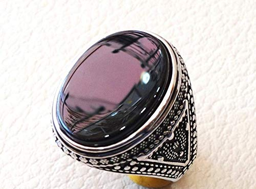 Huge Black Onyx Ring With Stones
