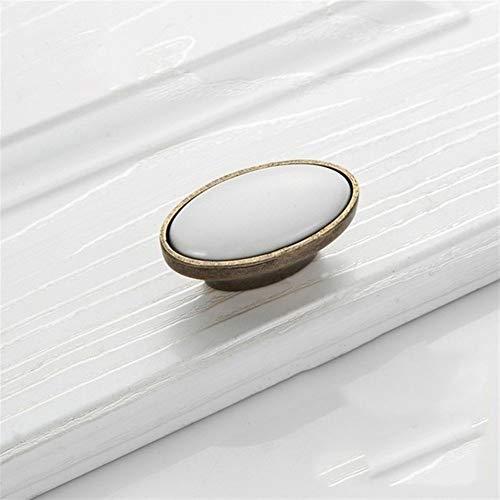 HongBin-Tiradores de armario Armarios de perillas y manijas, manijas de puertas antiguos for cocina, blanco de cerámica manija de la puerta, manijas de muebles, tiradores Europea ,Accesorios de armari