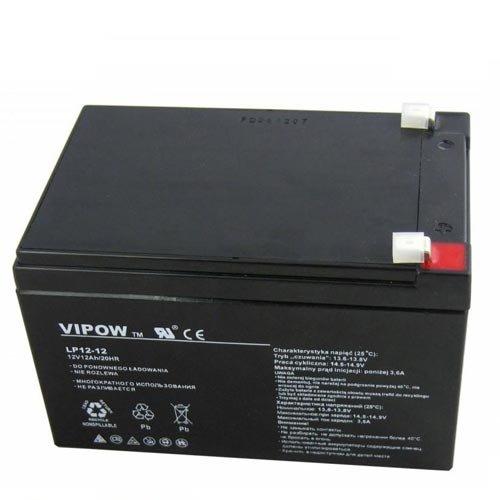 Vipow - Batería de Movilidad 12V 12Ah Bateria de Ciclo Profundo de Gel. Pila Recargable. Acumulador