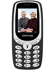 Ushining GSM Telefono Cellulare Semplice, Telefono Cellulare con Tasti Grandi con Radio FM Torcia LED Sveglia Fotocamera, Cellulare per Anziani Facile da Usare