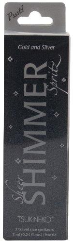 Tsukineko 2-Pack Pssst Sheer Shimmer Spritz, Ultra Fine Mist, Silver and Gold