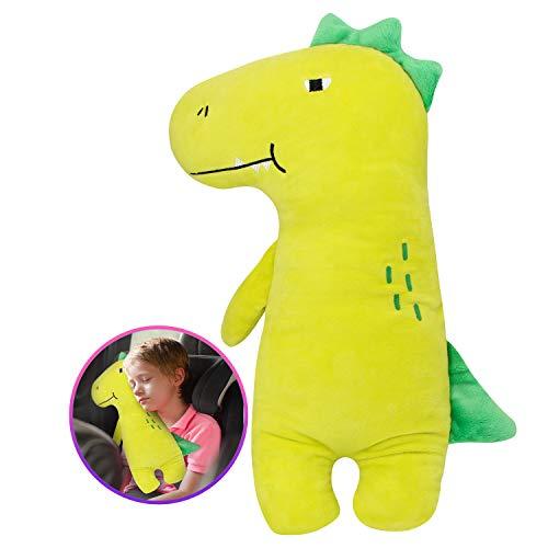 Farochy Car Pillow for Kids - Dinosaur Seat Belt Cover, Car Seat Belt Pillow Kids Car Seatbelt Covers, Vehicle Shoulder Pads, Seatbelt Cushion for Kids, Seat Strap Pillows Kids (Dinosaur)