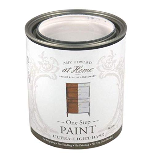 Amy Howard Home | One-Step Paint | Ballet White | Chalk Finish Paint | Eco-Friendly | No Stripping, Sanding or Priming | Multi-Surface Furniture & Cabinet Paint