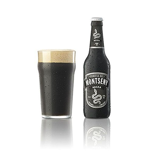 Cerveza Montseny Negra (12 botellas de 33 cl) Stout Ale Cerveza Artesana