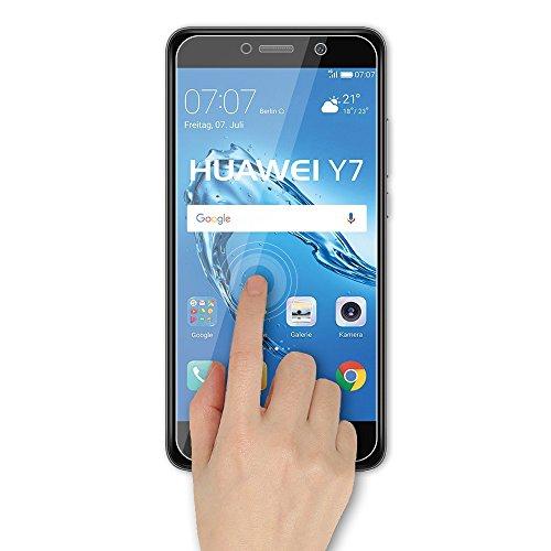 EJBOTH 2X Huawei Y7 2017 Panzerglas, Premium Schutzfolie Glas Handy Displayschutz Schutz Panzerfolie Transparent Kristall- High Definition Ultra-beständig 9H - 4