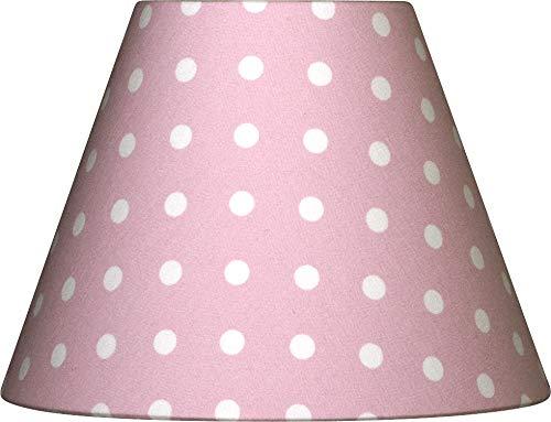 Lieblingslampen Lampenschirm rosa Punkte gepunktet Tupfen Shabby Nordika E14