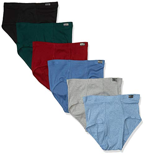 Hanes mens 6-pack Tagless No Ride Up With Comfortsoft Waistband Briefs, Assorted, XX-Large US