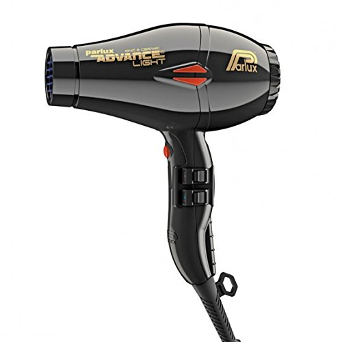Secador de pelo profesional Parlux Advance Light para salón de belleza, 2200 W, color negro