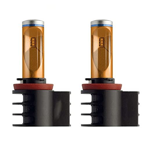 Dumai Luz de Niebla 2XX-Treme ULTINON LED H8 H11 H16 2700K Color ANTEL Amarillo MÁS LUZ LED Brillante Lámpara de Niebla Bombillas 12793Unix2 (Socket Type : H8)