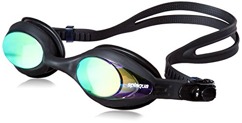 Splaqua Metallized Prescription Optical Swim Goggles - Anti-Fog UV Protection - Best Quality, Stylish, Durable, Soft and Comfortable Goggles (-1.5)