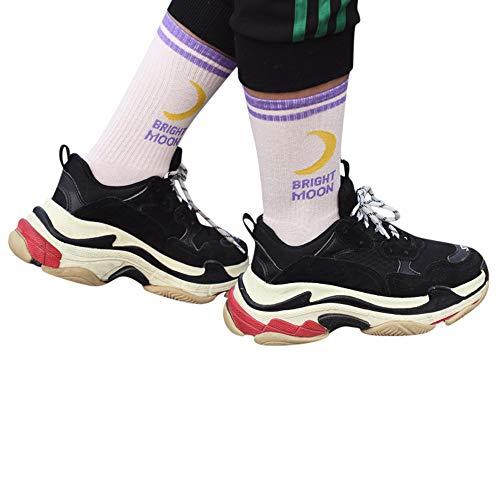 OSYARD Unisex Socken,Sportsocken,Sneakersocken, Sneaker Socken Knöchelsocken Brief Printing Socken Baumwolle Sport Socken Elastische Wintersocken Fußballsocken Wollsocken für Damen Herren