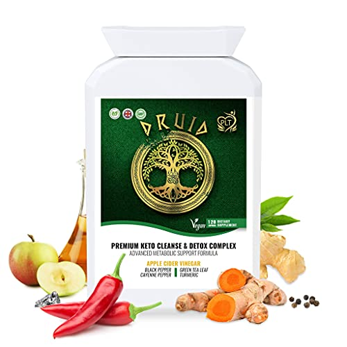 PLT Apple Cider Vinegar Capsules with Herbs and Chromium - Advanced Metabolism Improvement and Detox Formula to Weight Management for Men and Women - Keto Diet Pills - Suitable for Vegan