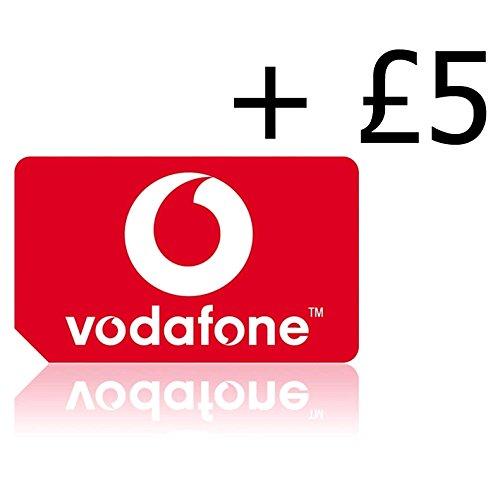 Vodafone Pay-As You Go Triple Cut SIM-Karte (Standard, Micro & Nano-Größe) mit £5 Gutschrift vorgeladen