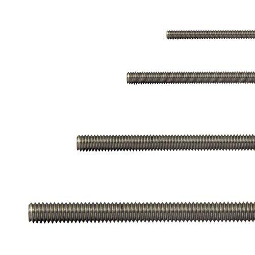 FASTON Gewindestangen M10 Edelstahl A2 V2A (1 Stück) Gewindestange 1 Meter Gewindestab 1000 mm rostfrei