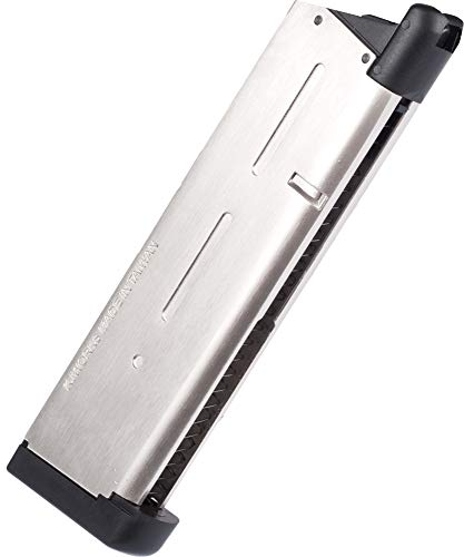 KJW OEM Replacement Airsoft Gas Magazine 27-Round for KJW KP07 MEU 1911/ KJW Classical 1911 Airsoft Pistol (NOT for Hi-Capa 1911) Airsoft 1911 Magazine