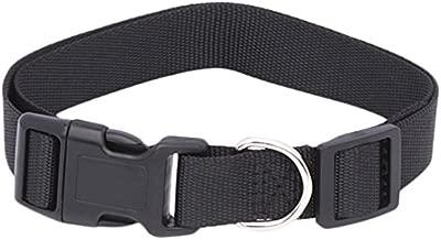 (Collar, Medium, Black) - Pet Champion Adjustable No-Pull Harness, Collar, Leash Matching Bundle for Small, Medium, Large Dog
