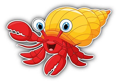 KW Vinyl Funny Hermit Crab Cartoon Truck Car Window Bumper Sticker Decal 5'