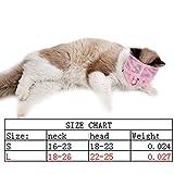 Hemore Bozal multifuncional antimordedura para gatos, transpirable, para evitar que los gatos muerdan y masticen tamaño L, suministros para mascotas rosadas