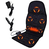 OhhGo Neck and Back Massager with Heat, Massage Seat Cushion Heated Electric Car Lumbar Cushion Pad for Full Back Neck Shoulder Full Body Pain Relief (US Plug)