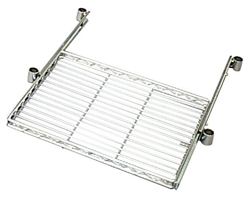 アイリスオーヤマ メタルラック 棚板 スライドトレー ポール径25mm 幅61×奥行46×高さ4.5cm 耐荷重8�s ホワイト MR-61PST