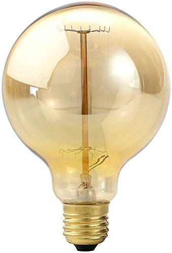Luminea Glühbirne Retro: Vintage-Schmucklampe in Globe-Form, gitterförmiger Glühdraht, E27 (Retro Glühbirne E27)