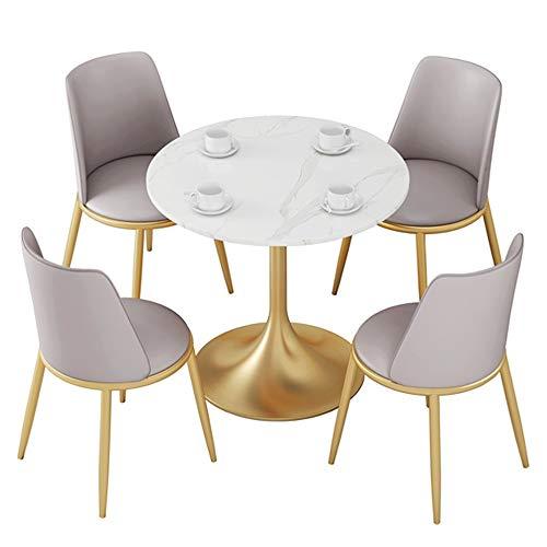 JU FU Tisch und Stuhl Set, Familie Einfache europäischen Stil Marmor Round Table, Garten Business Leisure Tisch und Stuhl Kombination, 3 Kombinationen verfügbar