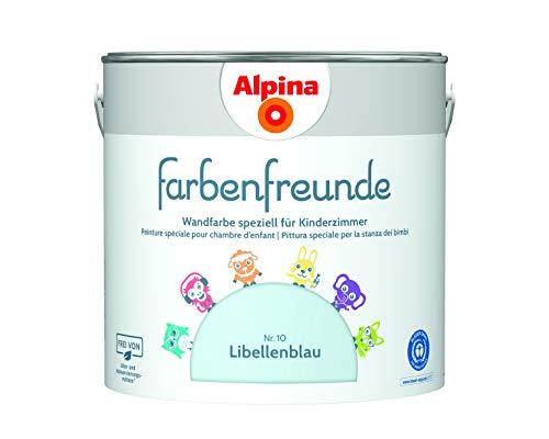Alpina Farbenfreunde 2,5L Kinderzimmerfarbe Wandfarbe (Nr.10 Libellenblau)