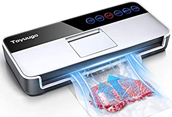 Vacuum Sealer Machine Toyuugo Full Automatic Food Sealer  -95Kpa  Powerful Air Sealing System Machine with Dry Moist Food Modes Led Indicator Lights/Digital Touch Controls/10 bags
