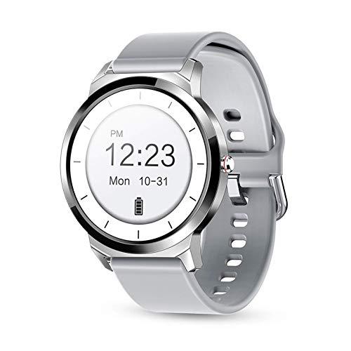 ZHENAO Smart Watch, Pantalla de Color Completo Tft Hd Tft Tft Tft Tft Hd Completo, Inforión Inteligente, Recordatorio de Llamadas Sedentarios Ip67 noble/Plata