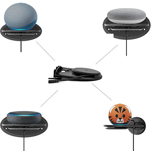 Echo Dot Wall Mount Holder for 4th Gen,3rd Gen,Google Home Mini,Smart Speakers,A Space-Saving Dot Accessories with Cable Management