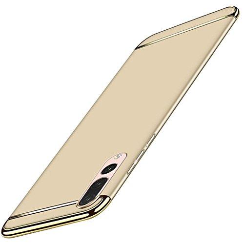 Compatible con Huawei P20 Pro, carcasa de policarbonato resistente a los golpes, máxima caída, galvanizada, antiarañazos, funda de teléfono antideslizante, funda para Huawei P20 Pro dorado Talla única