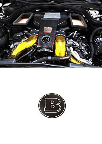 Brabus Style Engine Bay Logo Engine Compartment Emblem Badge Sticker w463 G-Class G63 G65 G55 G500 w204 w212 w222 w205 and Other Models of Mercedes-Benz Vehicles